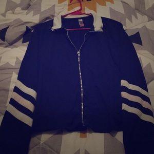 Navy blue Crop top Jacket.